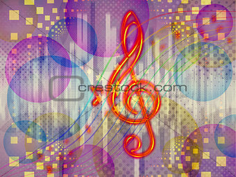 Abstract funky music background