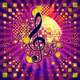 Disco ball abstract musical background