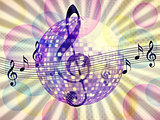 Funky music background with dico ball