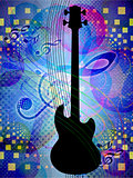 Funky music background with guitar