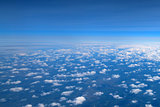 Aerial view of clouds and sky