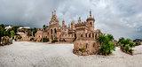 Panorama of Colomares castle. Benalmadena. Spain