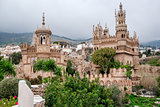 Exterior of Colomares Castle. Benalmadena town, Spain