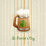 St. Patricks Day background with a mug