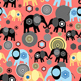 Valentine pattern of elephants