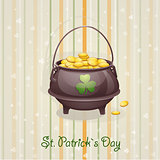 St. Patricks Day card to the casserole with the gold