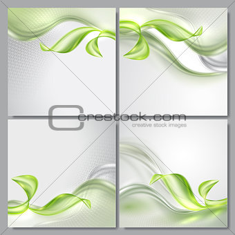 Abstract wave spring background