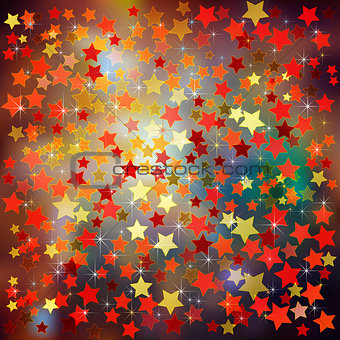 abstract christmas background red stars