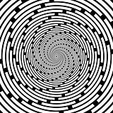 Design spiral striped backdrop