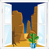 Window in desert