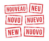 Stamps new in multilingual