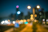 City bokeh background