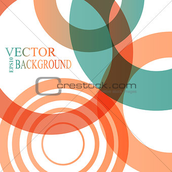 Abstract shapes vector background colorful bubbles