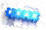 Fear - White Word on Blue Puzzles.
