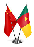 China and Cameroon - Miniature Flags.
