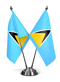 Saint Lucia - Miniature Flags.