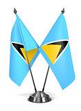 Saint Lucia - Miniature Flags.