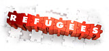 Refugees - White Word on Red Puzzles.