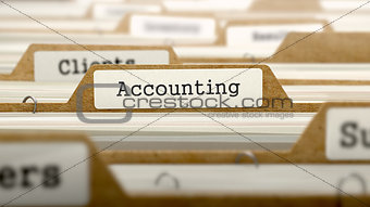 Accounting Concept with Word on Folder.