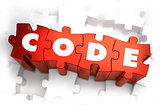 Code - White Word on Red Puzzles.