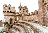 Part of Colomares Castle in Benalmadena town. Spain