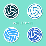 Volleyball ball labels