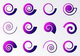 Violet spiral icons
