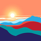 graphics landscape sunset