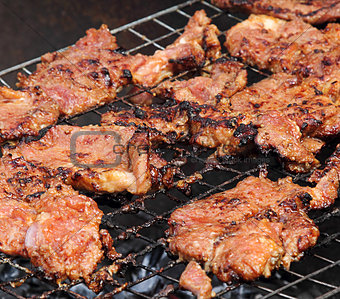 Grilled barbecue pork