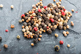 Close up selection of various pepper types