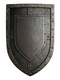 medieval coat of arms shield isolated