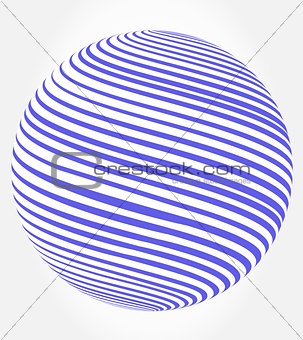 abstract globe - sphere vector
