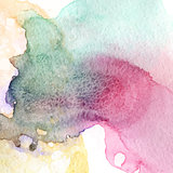 Blue green beige colorful watercolor texture