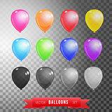 Twelve balloons set