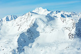 Otztal Alps winter view (Austria)