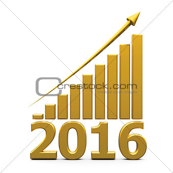 Business graph up with 2016