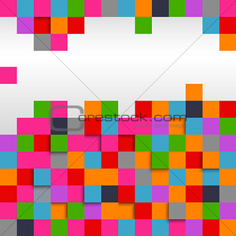 Abstract square colored background