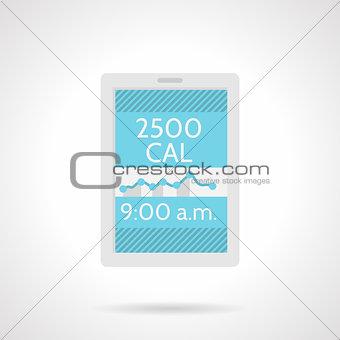 Calorie counter app flat color vector icon
