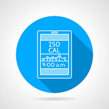 Line vector icon for calorie counter