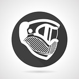Extreme helmet black round vector icon
