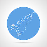 Harpoon blue round vector icon