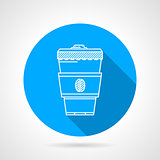 Line vector icon for coffee cup