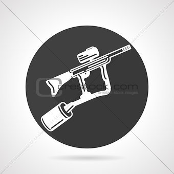 Paintball marker black round vector icon