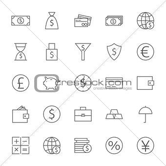 Money Finance Banking Big Icons Set