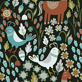 Bird Woodland Pattern