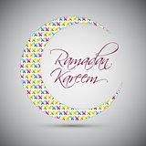 Ramadan Kareem Background Design. Vector Illustration