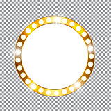 Golden Shiny Frame Vector Illustration