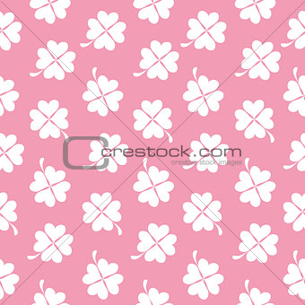 Abstract Natural Clover Seamless Pattern Background Vector Illus