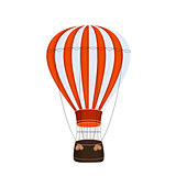 Air Balloon Background Vector Illustration