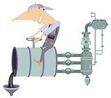 Oil industry illustration